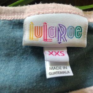 LuLaRoe Tops - LuLaRoe Blue and Pink Irma Raglan - XXS